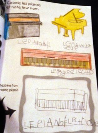 Apprendre le piano avec ma toute petite m thode de piano - Coloriage piano ...